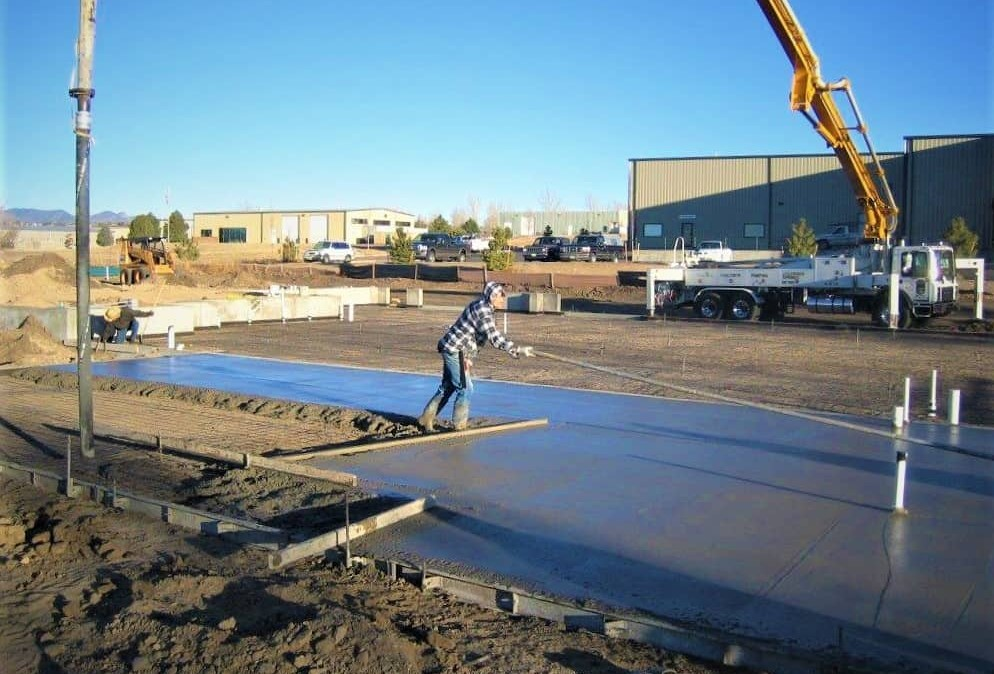 FGS Commercial project - pouring the foundation for FGS Colorado Springs office building