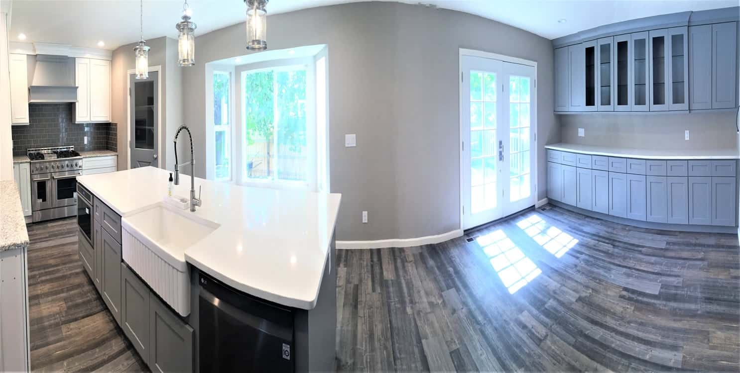 FGS residential renovation in Aurora, Colorado - finished kitchen panoramic
