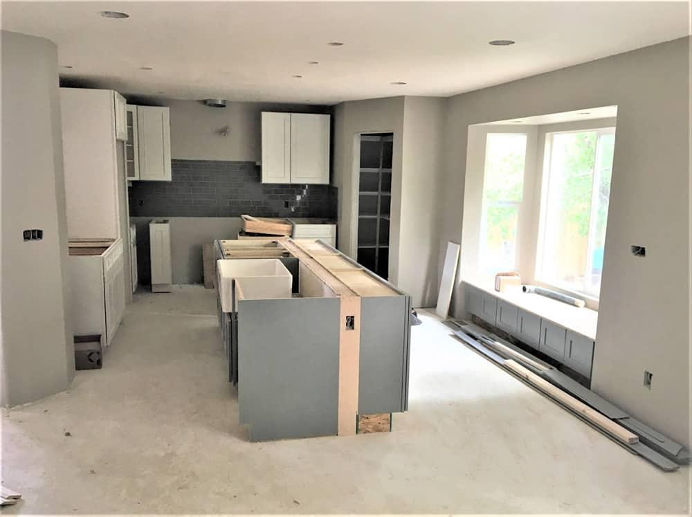 FGS residential renovation in Aurora, Colorado - in-progress kitchen