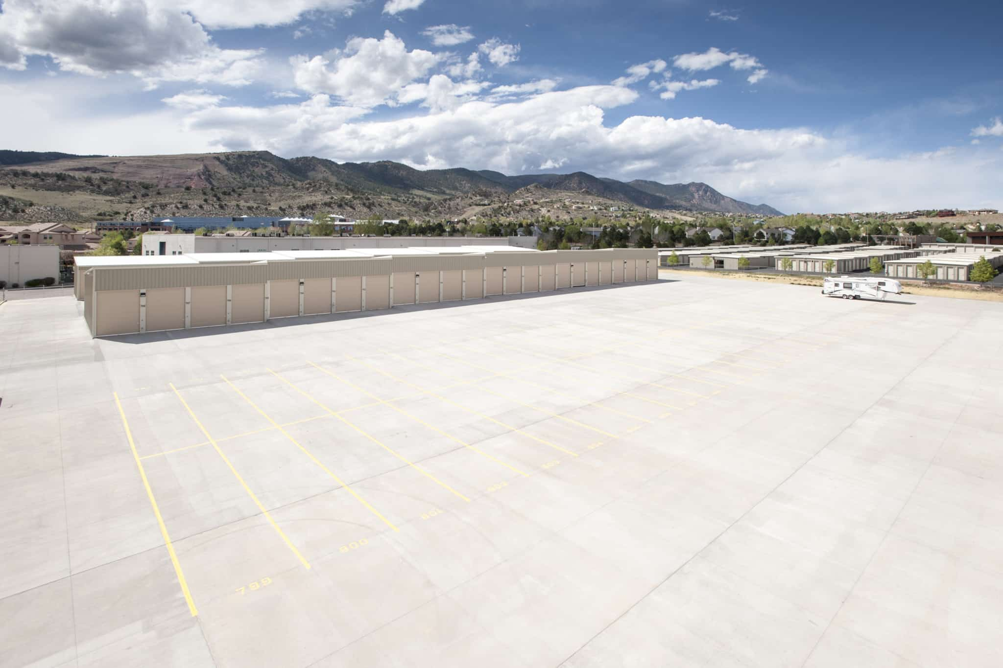 FGS Commercial new build of storage units near Colorado Springs, Colorado
