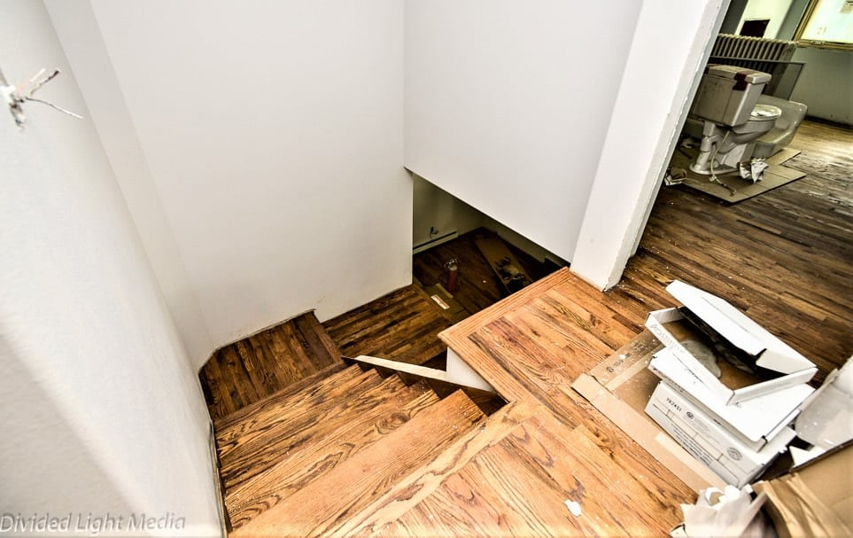 Historic Home remodel by FGS in Colorado Springs - staircase before picture