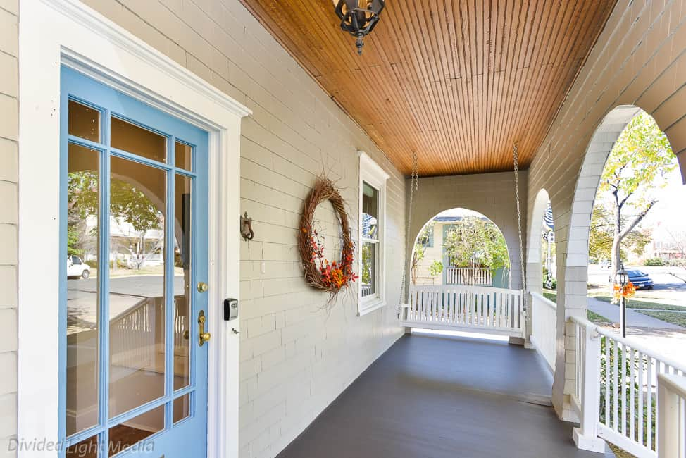 Front porch of Historical Home Remodel by First General Services - after picture