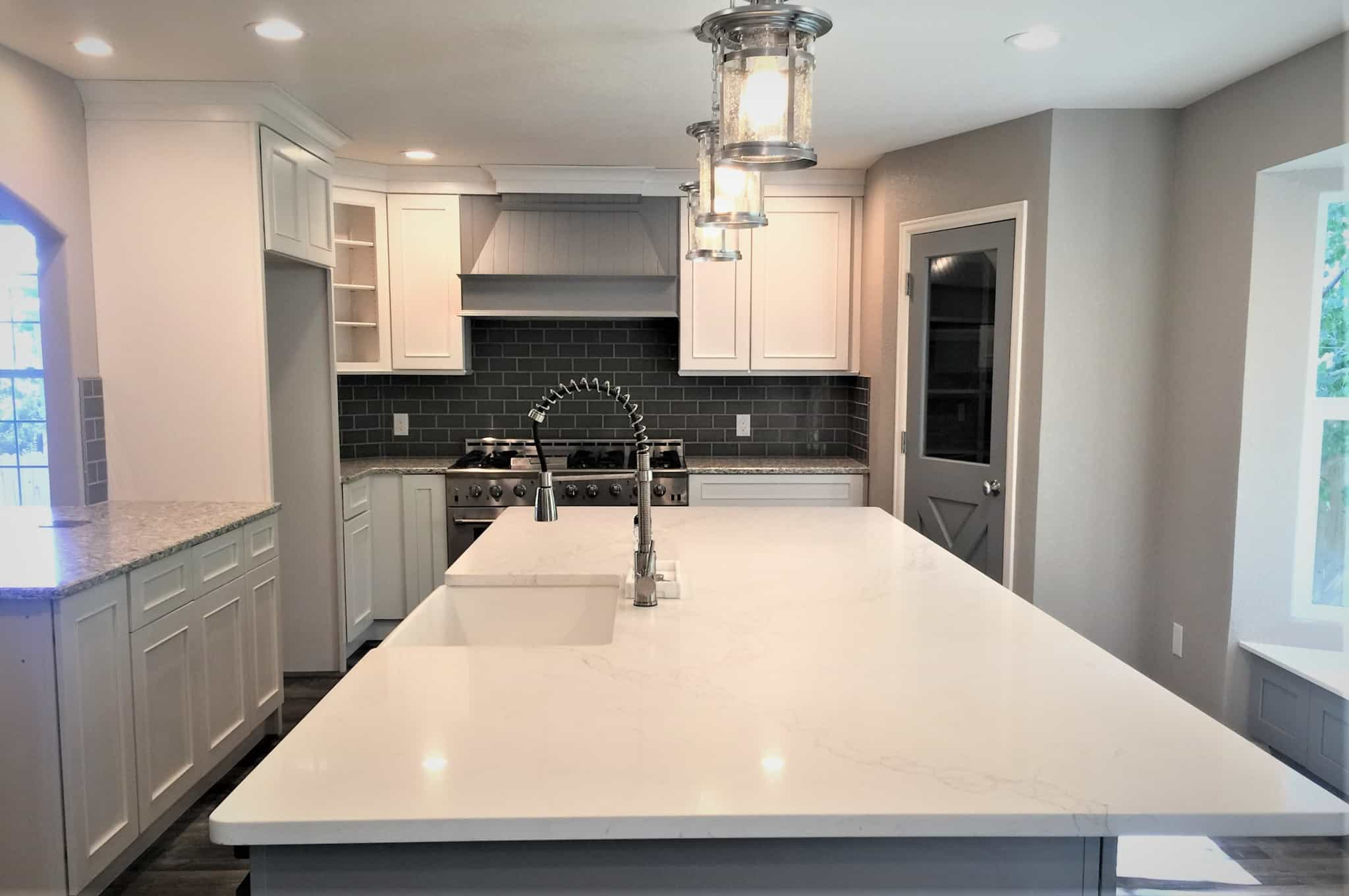 Grey Kitchen remodel after